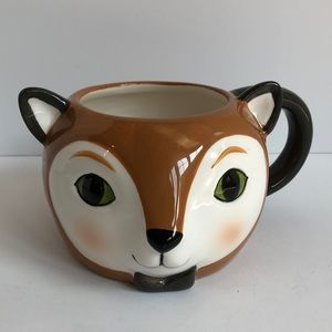 Threshold earthenware fox mug